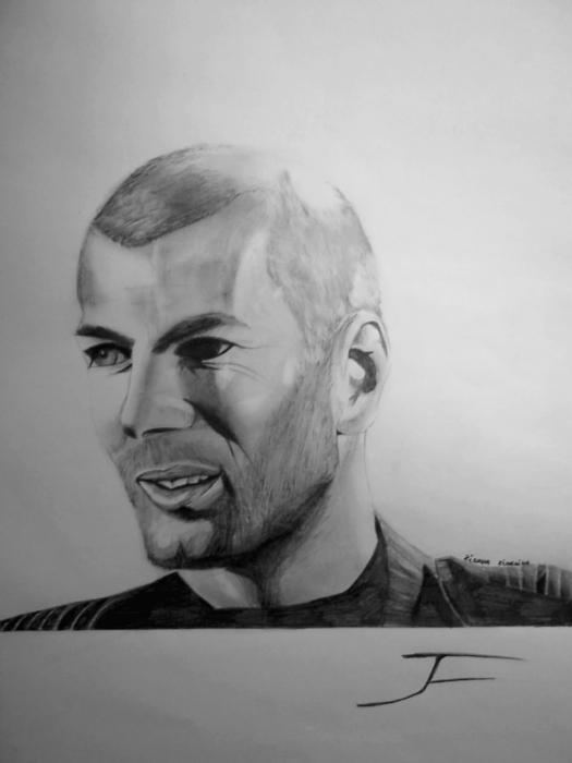Zinedine Zidane by francois19